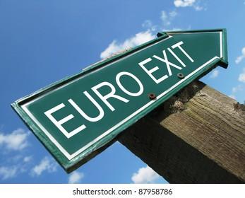 EURO EXIT road sign