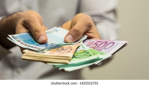 euro finance money concept money