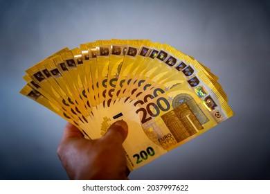 Euro Geld Scheine Bargeld 200 Euro Scheine