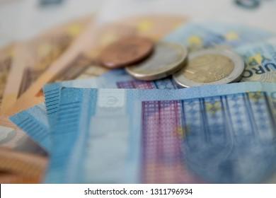Euro money. bank,, stock market