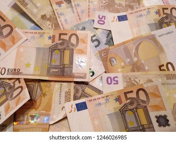 Euro money banknotes background