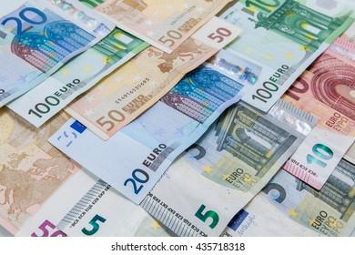 euro money banknotes, Money Euro  background.