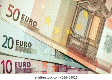 euro money banknotes background bills