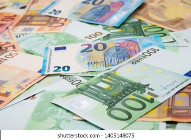 Euro Money Banknotes background texture