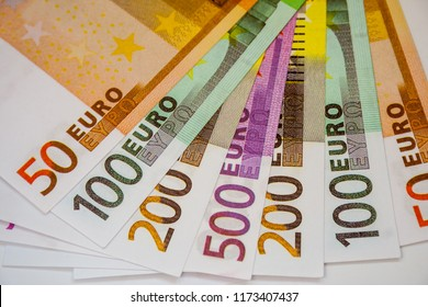 Euro Money Banknotes and cash. 50. 100. 200. 500 euro.