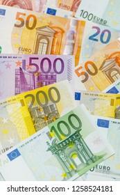 Euro Money. Euro Money Banknotes. Euro cash background.