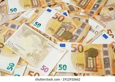 euro money. euro cash background, closeup