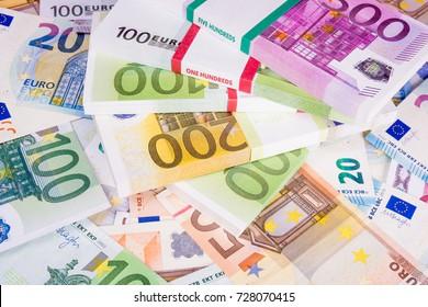 Euro Money. Cash. Euros.  Business concept