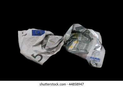 Euro money with coins and bills