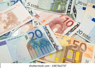 Euro money currency close up.