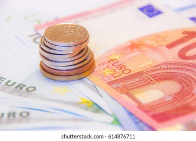 Euro money and czech crown