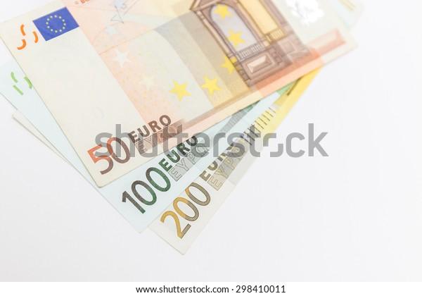 euro money on white background
