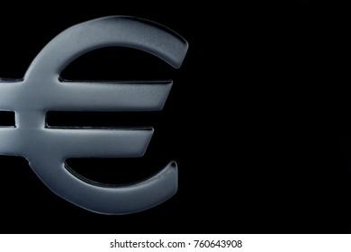 Euro Sign on black