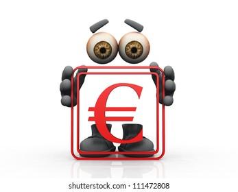 euro symbol on a white background