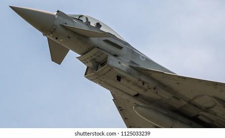 Eurofighter Typhoon Flying Fast Hard On Stock Photo (Edit