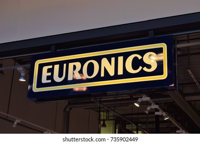 Euronics sign - Charlottenberg, Sweden (17th october 2017)