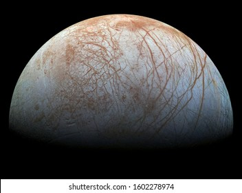 europa one of jupiters moons its surface is a ice lake