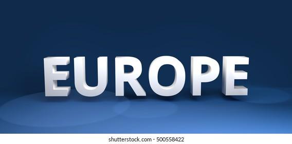Europe 3d render european bold design