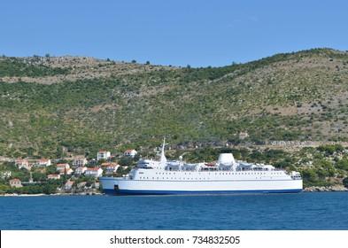Europe. Adriatic sea. Montenegro. Kotor bay. Dalmatian ferry. Autumn 2012.
