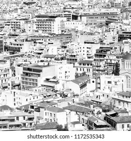 in europe athens the view of the city from the acropolis old architecture and new buildings