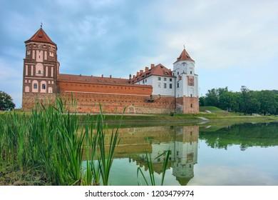 Europe. Belarus. Mir. Mir castle on a summer morning
