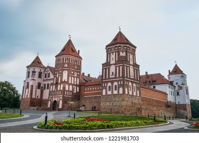 Europe. Belarus. Mir. Mir castle on a summer morning