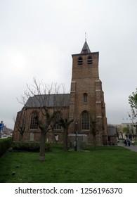 Europe, Belgium, West Flanders, Blankenberge Church  in the city center
