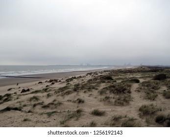 Europe, Belgium, West Flanders, the North Sea coast near the city of Blankenberge