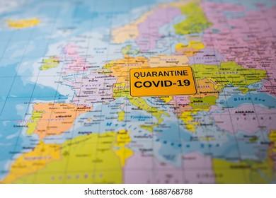 Europe Coronavirus Covid-19 Quarantine  background