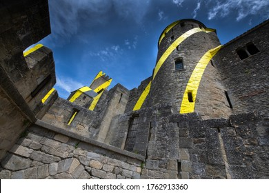 Europe France, Carcassonne,  05-2018 : France, Carcassonne, To celebrate the 20 years of its classification at UNESCO, The French town of Carcassonne