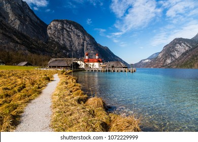 Europe, Germany, Bavaria, Konigssee. St. Bartholomew's Church. Berchtesgaden National Park