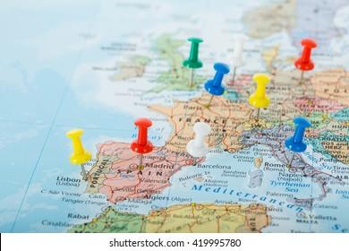 Europa Map viaja para su viaje de planificación.