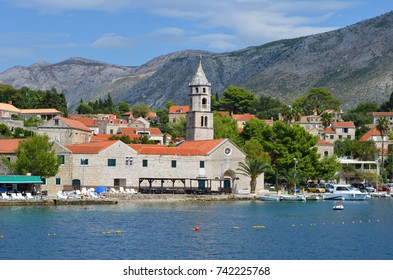 Europe. Mediterranean area. Adriatic sea. Dalmatian riviera. Seaside town in Croatia. May 2015