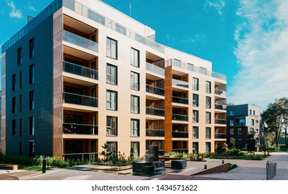 Europe Modern apartment residential quarter. Other outdoor facilities.