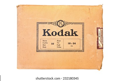 EUROPE, OCTOBER,11: Circa 1950 - KODAK BROMIDE Photo Paper is the famous paper in the past (now is discontinued) was designed for commercial and professional photography. Europe, on October 11, 2014