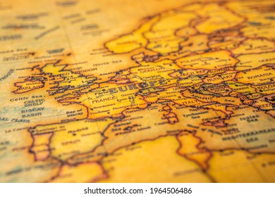 Europe on map of the world - Shutterstock ID 1964506486