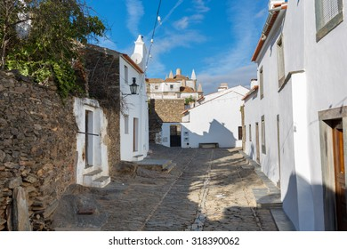"Europe, Portugal, Evora - Monsaraz village street view, near the biggest artificial lake ""Alqueva"" in Europe"