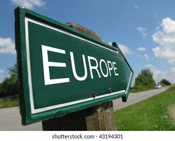 EUROPE road sign