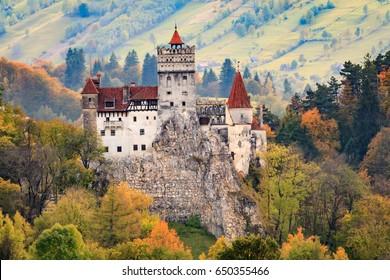 Europe, Romania. Bran. Castle Bran, Exterior.  Dracula's Castle.