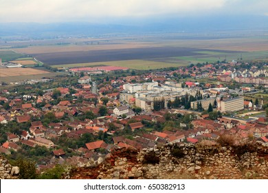 Europe, Romania. Brasov. Rooftops and villages, territorial view of countryside.