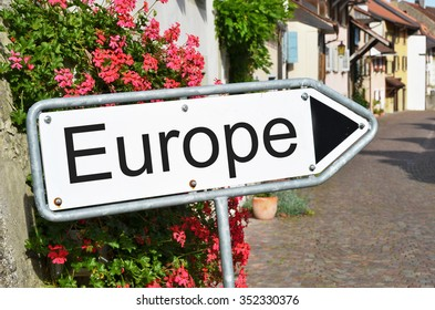 Europe sign on the street