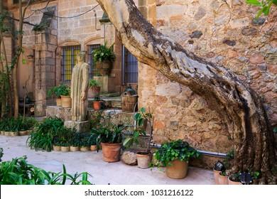 Europe, Spain, Balearic Islands, Mallorca, Valldemossa. The Royal Carthusian Monastery, Real Cartuja.