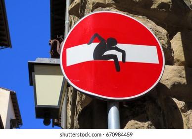 Europe stop sign graffiti funny