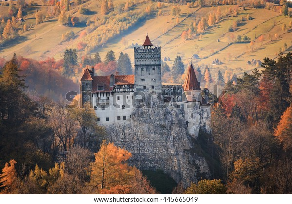 Europe, Transylvania, Romania, 13th century Castle Bran, associated with Vlad II the Impaler, AKA Dracula.Queen Marie of Romania's later residence.