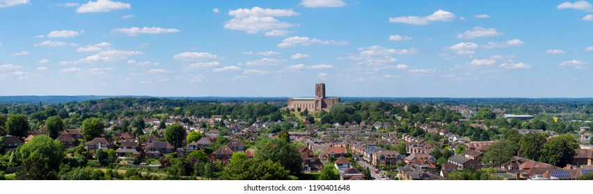 europe, UK, England, Surrey, Guildford, Cathedral panorama