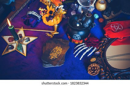 Europe, Ukraine. Kiev,  September 29: Illustrative Editorial. Magical stuff, details of witch , occultism concept