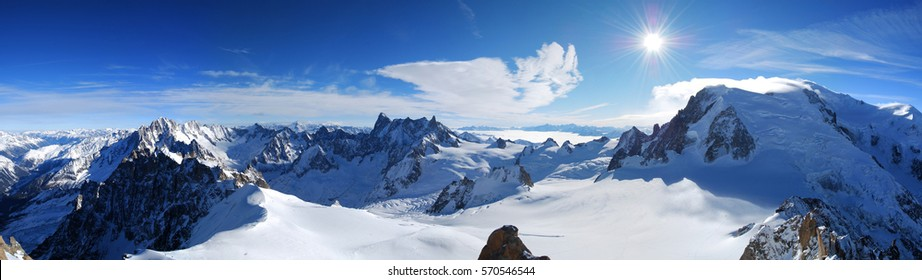 European Alps - Mont Blanc Panoramic View