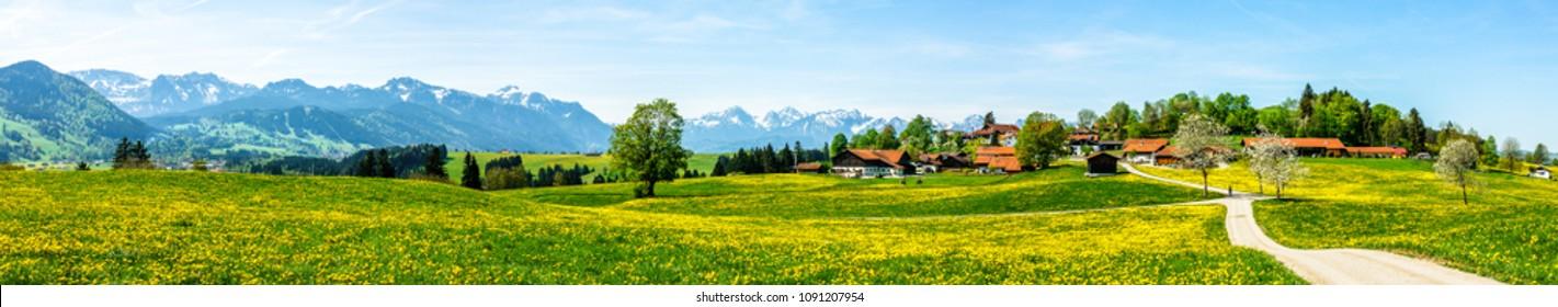 european alps near fuessen - bavaria