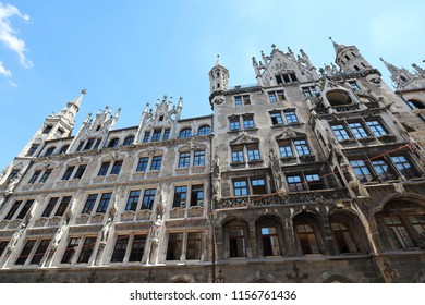 The European architecture in Gothic style in the center of Munich