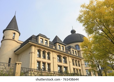 European architecture in the park, Tangshan, China